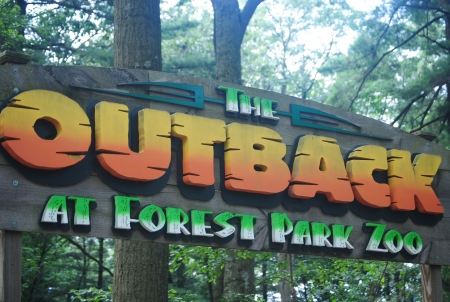 Outback sign in forest park zoo