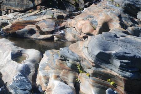 Glacial rock formations