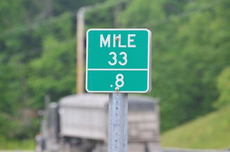 Mile marker on rt9 new hampshire