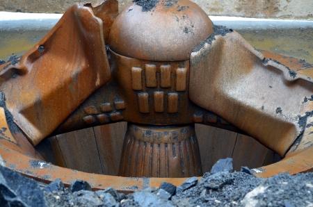 Quarry stone crusher Stock Photo