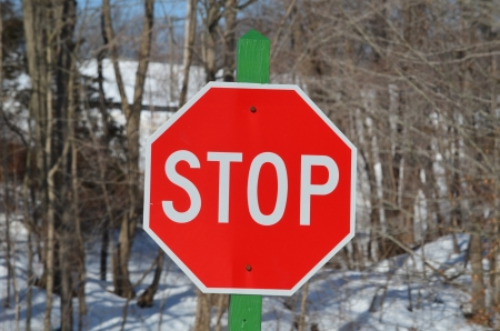 made: Home made stop sign Stock Photo