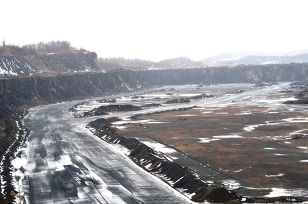 pits: A stone quarry Stock Photo