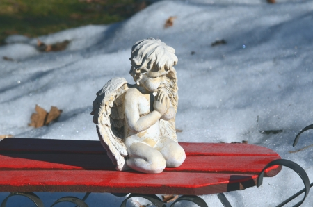 Angel on a sled