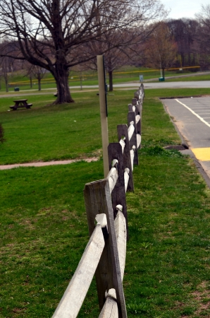 split rail: Wood split rail fence Stock Photo