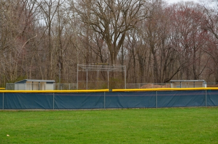 dugout: Baseball field