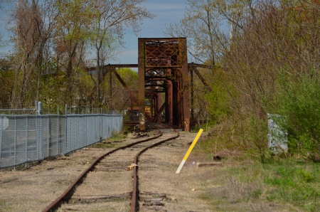 Railroad tracks and bridge