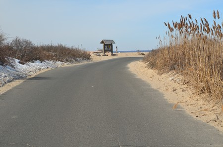 Road near the beach