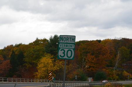 Routeteken in Vermont