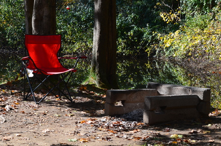 fire pit: Chair and fire pit