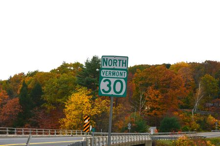 rt: RT, sign in Vermont Stock Photo