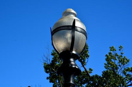 Decrative light on a pole Stock Photo