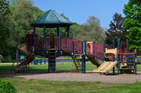 Kids playscape Stock Photo