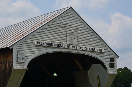 Old covered bridge on the Ct. river