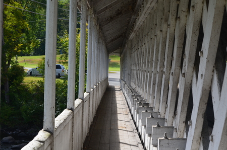 is covered: Covered bridge walkway