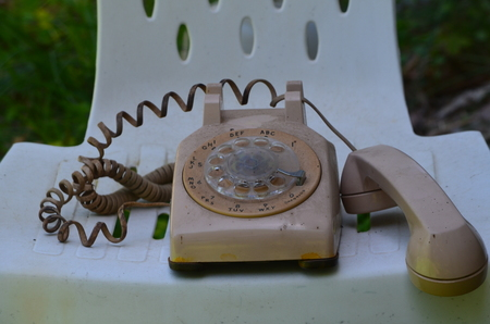 Antique phone Фото со стока