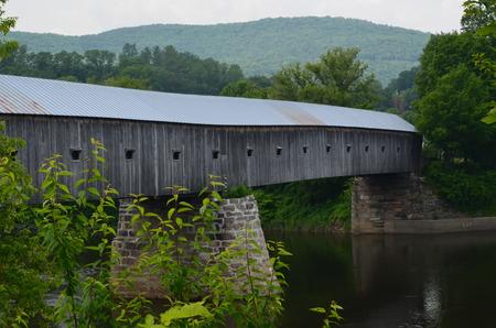 A long covered bridge
