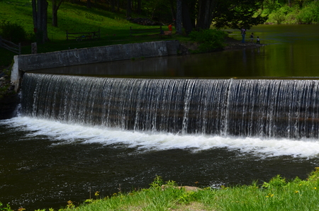 A picturesque waterfall in Vermont Stock Photo