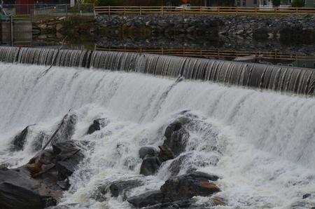Waterfall in Massachusetts Stock Photo