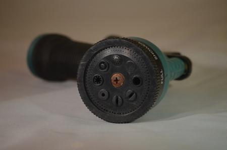 A garden water nozzle