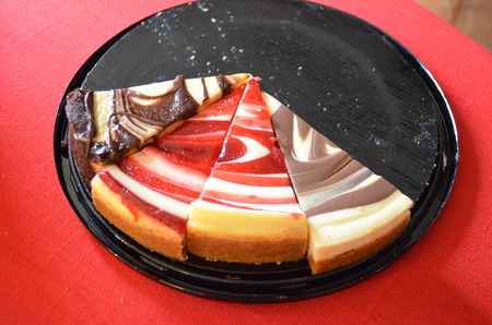 A cheesecake on a dish