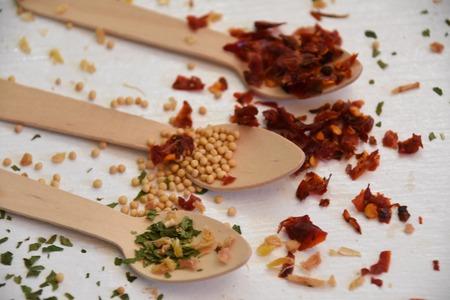 teaspoon: Teaspoon and spices Stock Photo