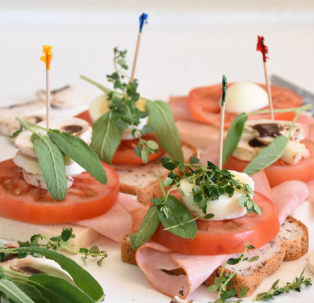 appetiser: Appetiser with Tomato and Ham