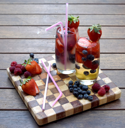 Juice with Pink Twisted Flexi Straw