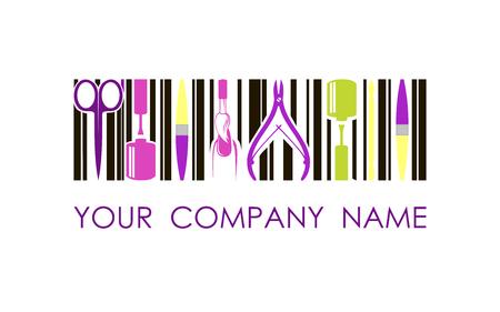 logo for nail design company. Concept design logo Archivio Fotografico - 101597420