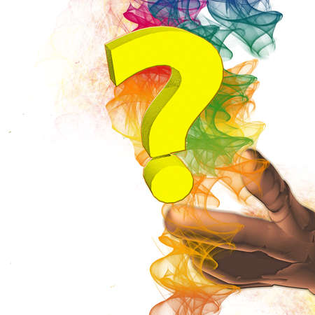 yellow question Stock Photo
