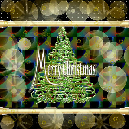 recurrence: christmas tree and golden ribbons