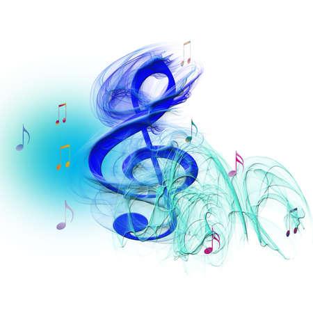 keys to heaven: treble clef blue