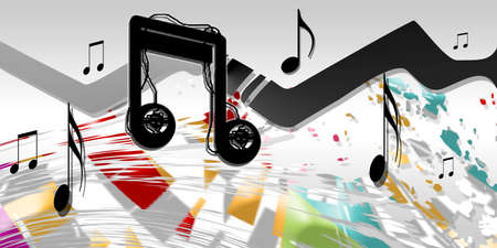sonorous: musical notes Stock Photo