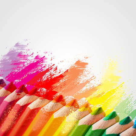 tonality: colored pencils Stock Photo
