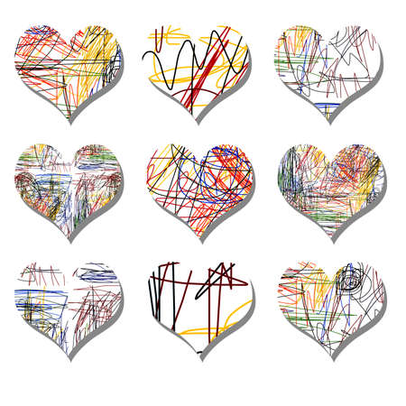 sep: Heart Sep Stock Photo