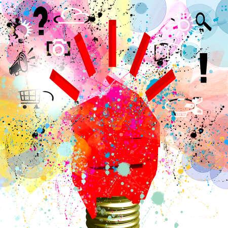 Creative idea abstract