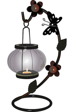 sconce: candlestick hermosa con una peque�a vela dentro de