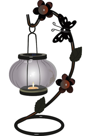 beautiful candlestick with a small candle inside