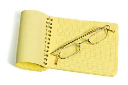 Notebook isolated on a white background Stock Photo - 10345483