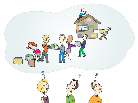 People Collaboration teamwork vector