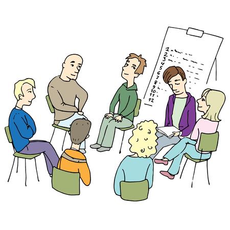 People collaboration teamwork. Illustration