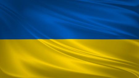 Ukraine flag blowing in the wind. Background texture. 3d rendering, wave. Reklamní fotografie - 96130992