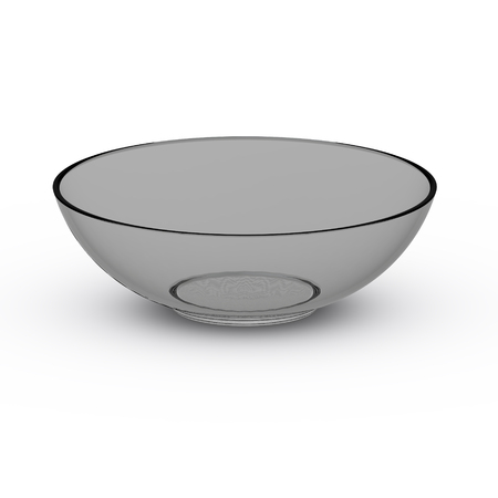 Collection of Glass objects. Glass empty rice bowl, isolated on white background. 3D Illustration. Reklamní fotografie