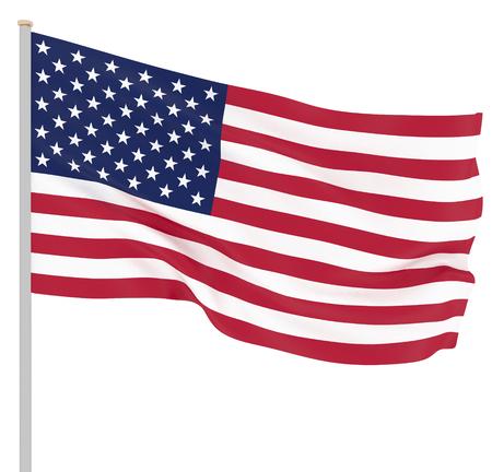 Waving USA flag. 3d illustration for your design. - Illustration Stock Photo