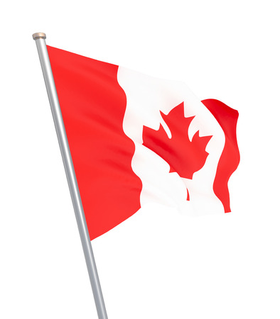 Waving Canada flag. 3d illustration for your design. – Illustration 스톡 콘텐츠
