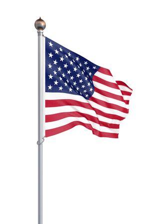 Waving USA flag. 3d illustration for your design. - Illustration