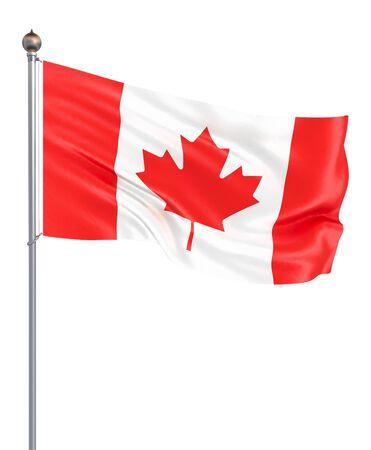 Waving Flag Kanada. 3D-Darstellung für Ihr Design. – Abbildung