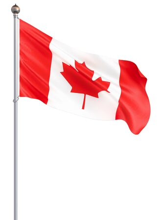 Waving Canada flag. 3d illustration for your design. – Illustration