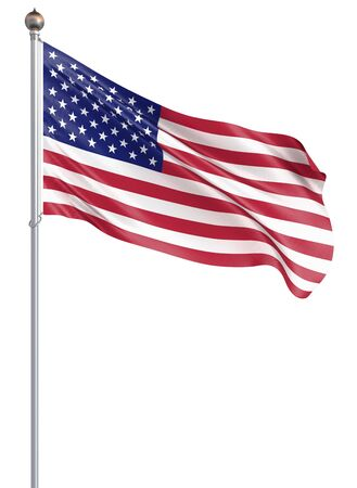 Waving USA flag. 3d illustration for your design. - 3d Illustration. Banco de Imagens
