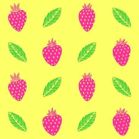 Bright Strawberry Seamless Pattern