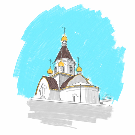 Holy Assumption Monastery in Krasnoyarsk 写真素材